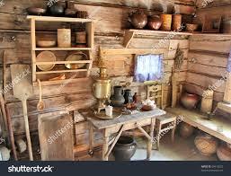 interior russian izba stock photo 99415523 shutterstock