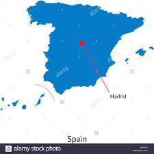 Detailed Map Of Spain by Detailed Vector Map Of Spain And Capital City Madrid Stock Vector
