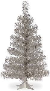 tinsel tree national tree 3 foot silver tinsel tree with plastic