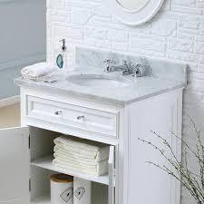Overstock Bathroom Vanities by Water Creation Derby 24w 24 Inch Solid White Single Sink Bathroom