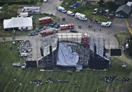 radiohead stage collapse one man dead in downsview park incident