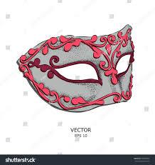 sketch venetian masks accessory masquerade costume stock vector