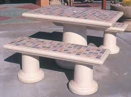Cement Patio Table Cement Patio Table Cement Garden Table And Benches Enlarge Picture