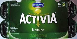 8 Pots by Activia Nature 16 Pots Danone 2 Kg 2 X 8 X 125 G