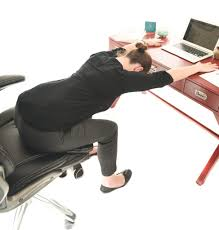 Computer Desk Stretches 5 Seated Yoga Stretches For Your Desk Job Brenna Daugherty