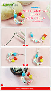 tutorial on how to make colorful acrylic beads necklace within two