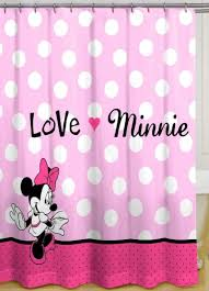 Childrens Shower Curtains by Bathroom Popular Minnie Mouse Kids Shower Curtains Pink Scheme