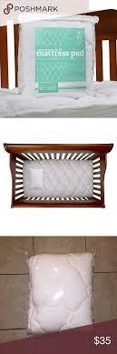 Pillow Top Mattress Pad For Crib Nwot Bamboo Crib Pillow Top Mattress Pad