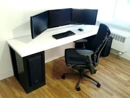 Corner Desk Small Corner Desk For Two Computers Computer Monitors