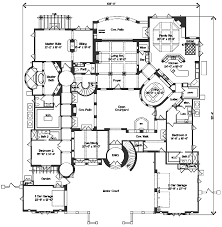 Mediterranean Floor Plans Mediterranean Style House Plan 4 Beds 4 50 Baths 6755 Sq Ft Plan