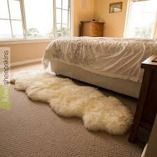 White Sheepskin Rugs Double Sheepskin Rug New Zealand Sourced U0026 Tanned