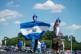 Salvadoran Flag Salvadoran Fans Gather For Rare Chance To See Soccer Squad Against