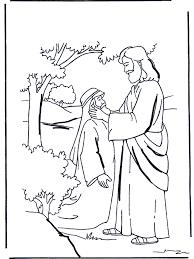 Was Bartimaeus Born Blind Extravagant Jesus Heals The Blind Man Coloring Page Jesus Heals