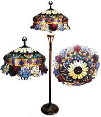 stained glass torchiere l shades impressive awesome tiffany style stained glass torchiere floor l