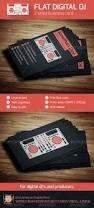 flat digital dj business card by vinyljunkie graphicriver