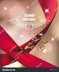 Jewellery Invitation Card Grand Opening Invitation Card Silk Red Stock Vector 273695642