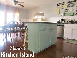 painted kitchen islands painted kitchen island via the duckeggblue anniesloan 1 jpg