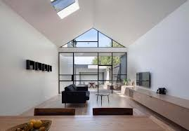 glass wall house burnley residential renovation included an industrial styled glass