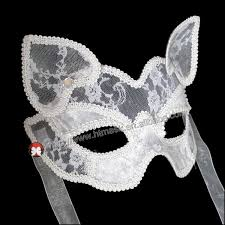 white masquerade masks for women white cat transparent lace mask for costume party masquerade