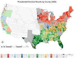 Election Map Results by Presidential Election Results By County For The United States