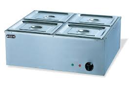 electric 4 pans bain marie commercial tabletop food warmer