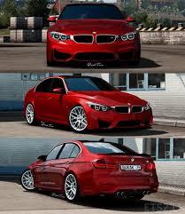 red bmw m4 bmw m4 m3 f30 sedan package ets 2 mods