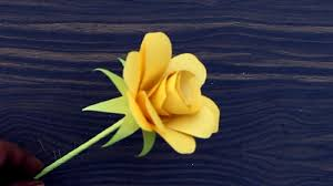 how to make origami paper yellow rose diy paper crafts for