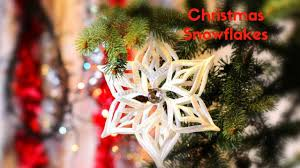 christmas decorating ideas how to make ribbon snowflakes for