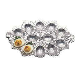 deviled egg holder bunny deviled egg holder designer aluminum gifts by arthur court
