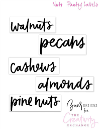 kitchen canister labels free printable pantry labels hand lettered