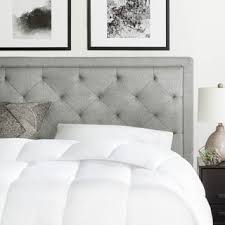Bed With Headboard Brookside Upholstered Headboard With Tufting Free