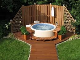 Outside Backyard Ideas Awesome Outside Backyard Ideas 1000 Ideas About Backyard Hot Tubs