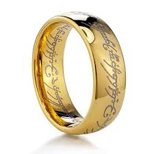 gold color rings images Tusen jewelry lord of the rings gold color tungsten ring jpg