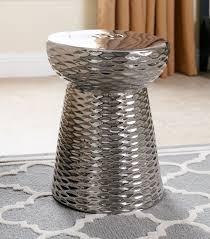garden stools madison silver chrome ceramic garden stool