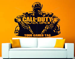 call of duty wall stickers wall murals ideas call of duty black ops 3 personalised gamer tag decor vinyl wall