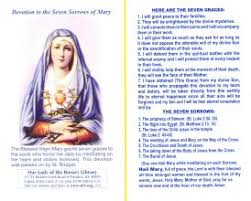 seven sorrows rosary olrl the seven sorrows prayer card