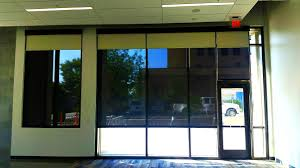 roller shades for sliding glass doors hunter douglas rb500 dual roller shades with custom painted fascia