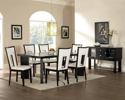 black wood square dining table top modern dining room with bench