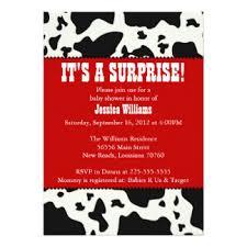 baby cow invitations announcements zazzle