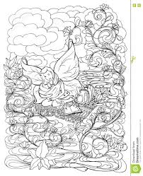 coloring book page with mother breast feeding her baby