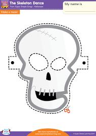 the skeleton dance worksheet u2013 make a mask super simple