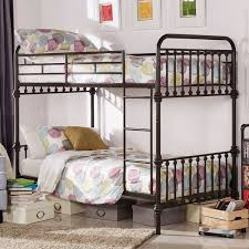 Wood And Metal Bunk Beds Vintage Metal Bunk Bed Antique Rustic Wrought Iron