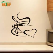 popular wall quote stickers bedroom buy cheap wall quote stickers dctop house coffee cup silhouette wall decals vinyl stickers home decor living room sticker bedroom wall