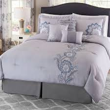 Embroidered Bedding Sets Better Homes And Gardens Darma 7 Piece Floral Embroidered Bedding