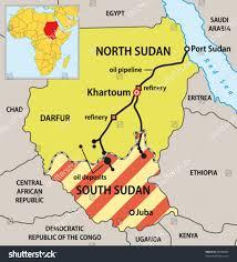 africa map khartoum sudan political map new borders vector stock vector 69848905