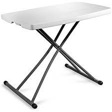 Adjustable Height Folding Table with Amazon Com Lifetime 80251 Height Adjustable Folding Personal
