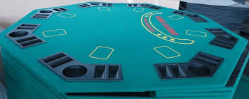 Table Top Poker Table Octagonal Poker Table Top With Chip Tray And Cup Holder Buy