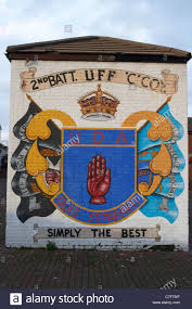 uda uff shankill road loyalist wall mural painting west belfast uda uff shankill road loyalist wall mural painting west belfast northern ireland stock photo