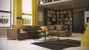 brown curtain living room astonishing combination decorating ideas brown curtain living room astonishing combination decorating ideas with library and yellow accents also comfortable l shaped sofa along rectangular glass