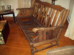 Rustic Wooden Couch Sofas Center Wood Frame Sofa Withons Rustic